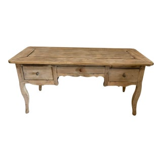 French Farm Kitchen Table With One Side Extension For Sale