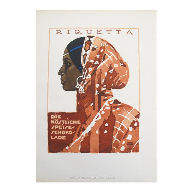 Woman in a Sari, 1926 German Poster For Sale