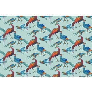 Grand Plume Breeze/Multi Linen Cotton Fabric, 3 Yards For Sale