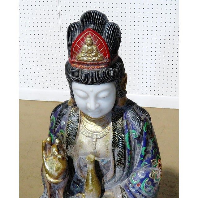 Figurative Figural Oriental Marble Statue For Sale - Image 3 of 8