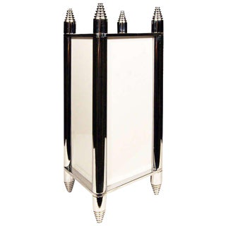 Chrome Art Deco Box Table Lamp or Chandelier - 50th Anniversary Sale For Sale