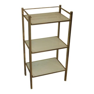 1970s Hollywood Regency 3-Tiered Utiliy Stand For Sale