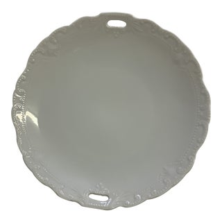 1970s Porcelain Decorative Round Serving Dish For Sale