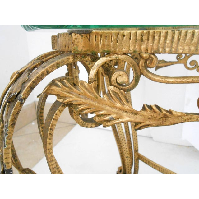 Mid 20th Century Italian Gilt Wrought Iron Coffee Table For Sale - Image 5 of 7