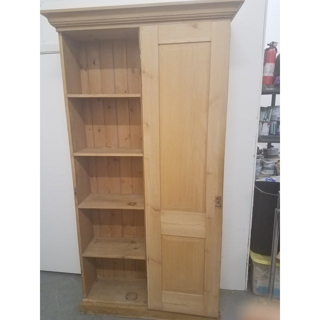 Antique English Pine Tall Cupboard For Sale In Dallas - Image 6 of 13