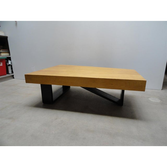 1940s Rare Barzilay Trapezoid Cocktail Table in Birch For Sale - Image 5 of 10