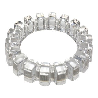 1970's Brutalist Cut Crystal Ashtray For Sale