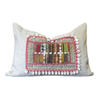 Wasifi Jumlo Shell Embellished Pillow For Sale