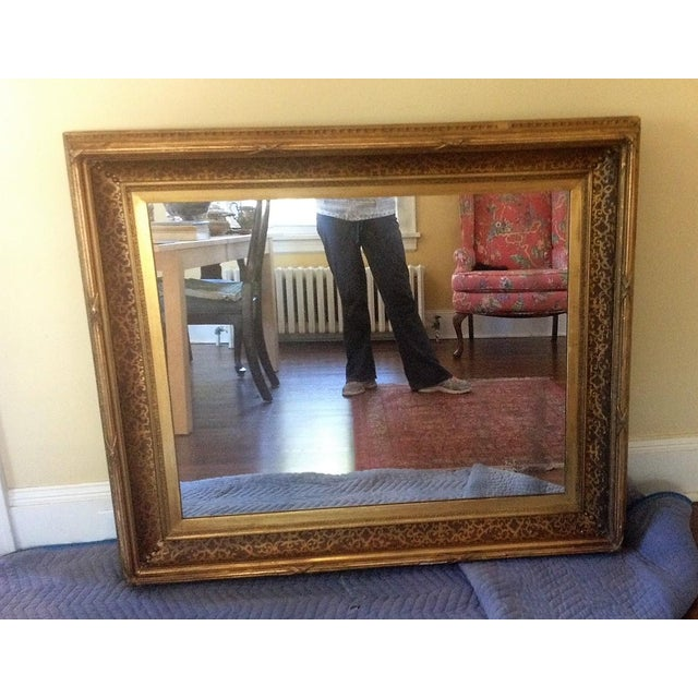 Antique Gilt-Wood Hand-Carved Mirror - Image 3 of 8
