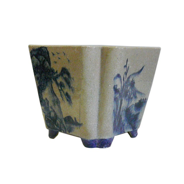 Oriental Scenery Ceramic Planter & Flower Pot - Image 2 of 5