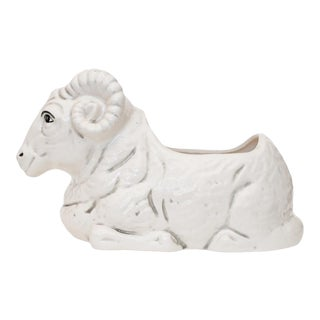1950s Quida Japanese Ceramic Ram Planter For Sale