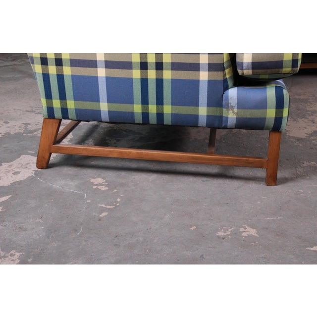 A. Rudin Down Filled Two-Piece Sectional Sofa in Plaid Upholstery For Sale - Image 10 of 13