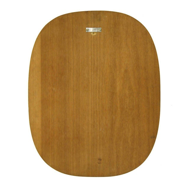 1950s Josef Frank Brass and Teak Mirror, circa 1960 For Sale - Image 5 of 9
