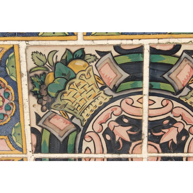 Spanish Tile Top Wrought Iron Patio Table For Sale - Image 11 of 13
