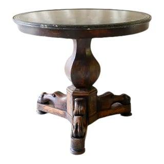 Italian 19th Century Mahogany Marble Top Gueridon Table For Sale