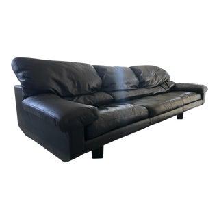 """Vintage Zani From """"Collezione Poltrone"""" Milano Leather Sofa For Sale"""