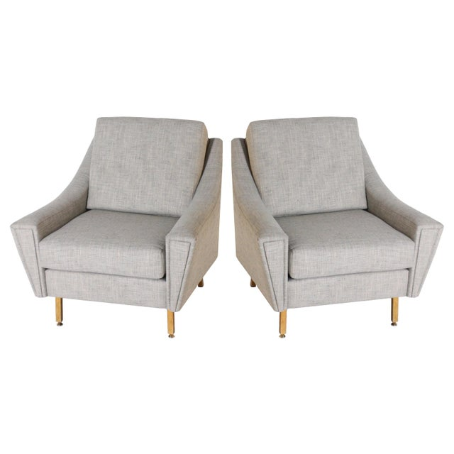 Italian Upholstered Bergere Chairs, C. 1940 - a Pair For Sale In Dallas - Image 6 of 6