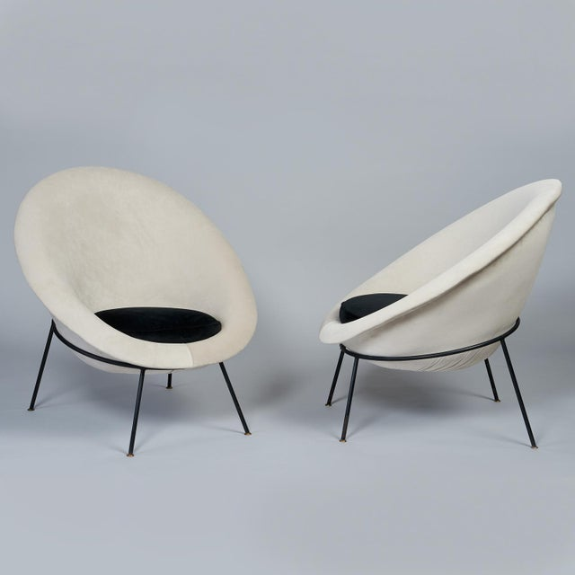 Ico Parisi, att. (1916 - 1996) A beautiful early pair of modernist Egg lounge chairs attributed to Ico Parisi and...
