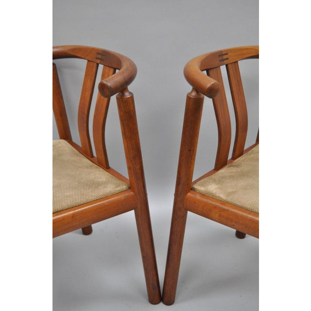 Rosewood Uldum Danish Modern Teak Curved Back Rosewood Inlay Dining Chairs - Set of 6 For Sale - Image 7 of 12