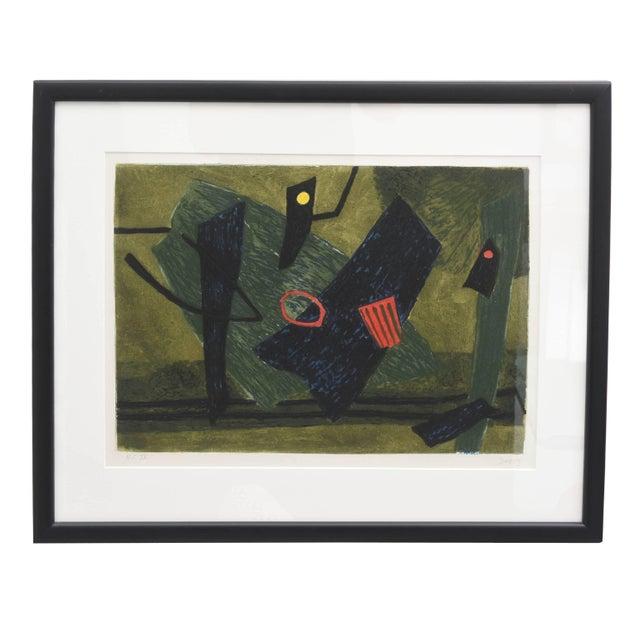 Surrealist Carborundum Collagraph by Henri Goetz, Paris 1960s For Sale - Image 9 of 9
