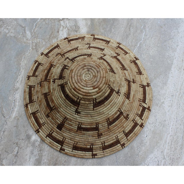 Native American Tohono O'odham (Papago) Basket with Horses, Circa 1940's For Sale - Image 3 of 6