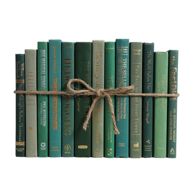 Modern Modern Boxwood ColorPak - Decorative Books in Shades of Green For Sale - Image 3 of 3