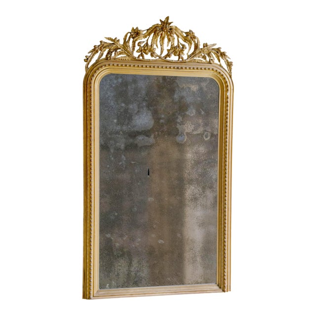 Elaborate Decorated 19th Century Mirror For Sale - Image 6 of 8