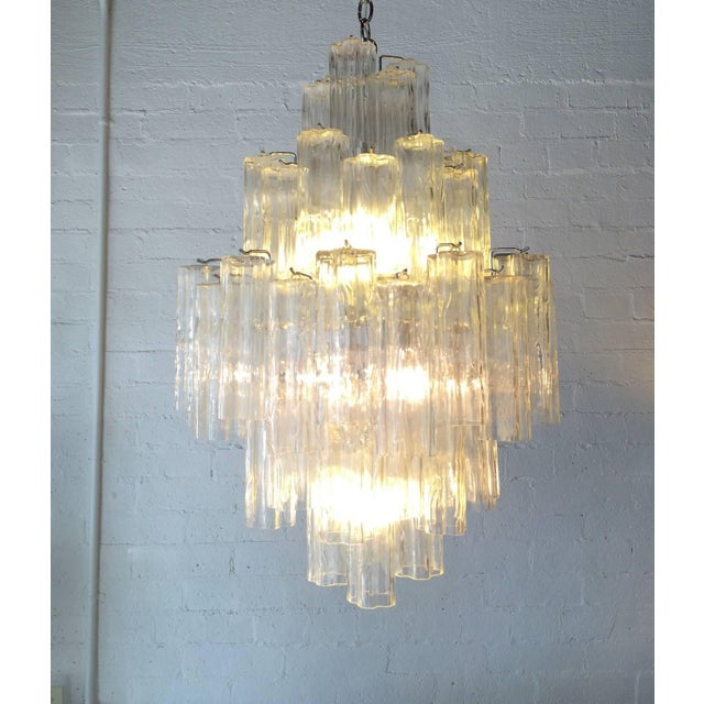 Tronchi Glass Chandelier by Venini for Murano - Image 3 of 9