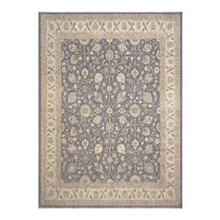 Kafkaz Peshawar Davina Gray & Ivory Wool Rug - 12'2 X 15'2 For Sale