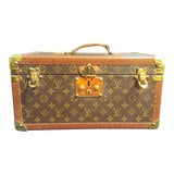Image of 1980s Vintage Louis Vuitton Monogram Cosmetic Travel Train Case For Sale