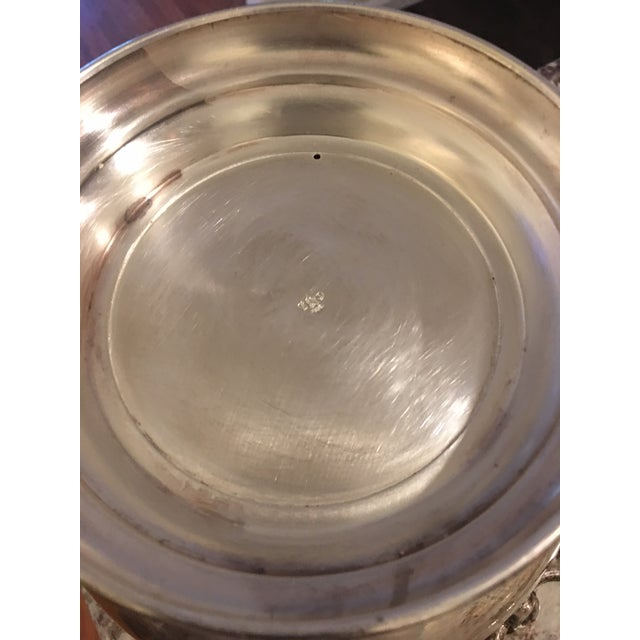 Glass Antique Old English Sheffield Silver Lion Head Ice Bucket For Sale - Image 7 of 10