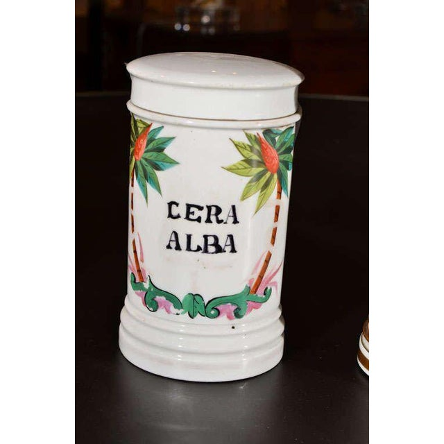 Porcelain Apothecary Jars For Sale In Houston - Image 6 of 9