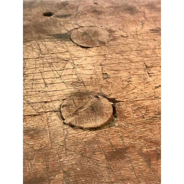 Wood Antique Primitive Live Edge Coffee Table For Sale - Image 7 of 11