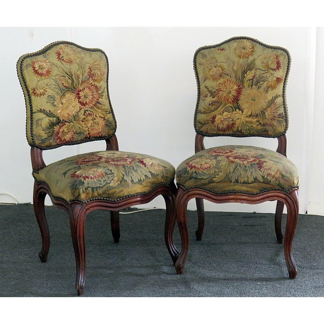 Mid Century Louis XVI Style Side Chairs- A Pair For Sale - Image 10 of 10