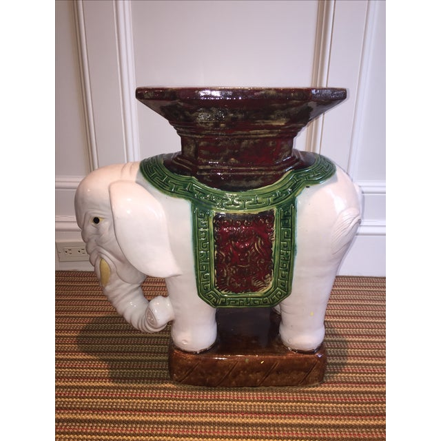 Green and Brown Elephant Garden Stool - Image 3 of 10