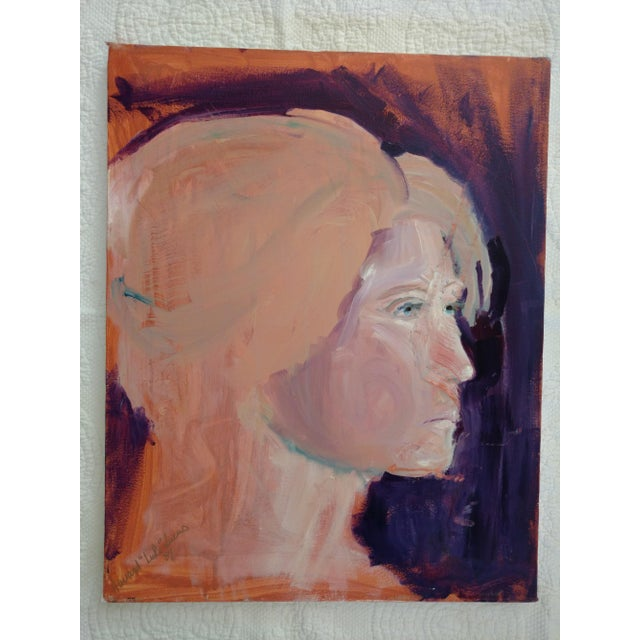"Contemporary 1980s ""Stockholm Gaze"" Abstract Acrylic Portrait Painting For Sale - Image 3 of 8"