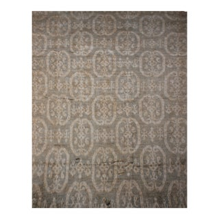 "Hand Knotted Ikat Rug - 14'3"" X 10'4"""