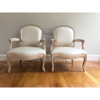 Vintage Louis XVI Style Fauteuil Armchairs in Blush Pink Snake Leather Upholstery - a Pair Preview