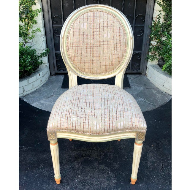 1950s Set of 6 French Louis XVI Balloon Back Dining Chairs For Sale - Image 5 of 10