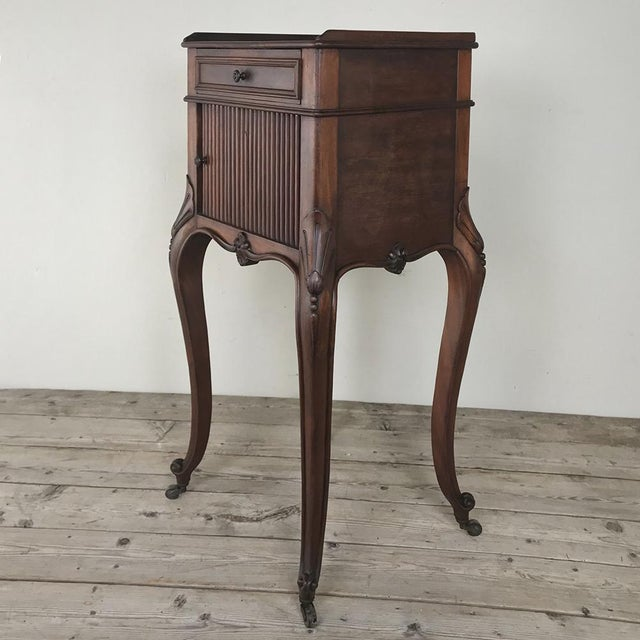 Country Antique Country French Nightstand For Sale - Image 3 of 13