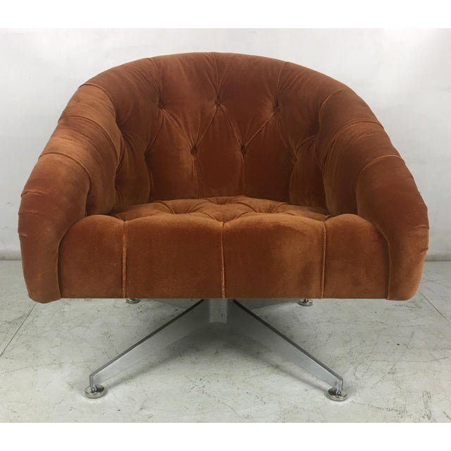 1960s Tufted Swivel Chairs by Ward Bennet for Lehigh Leopold - a Pair For Sale - Image 5 of 8