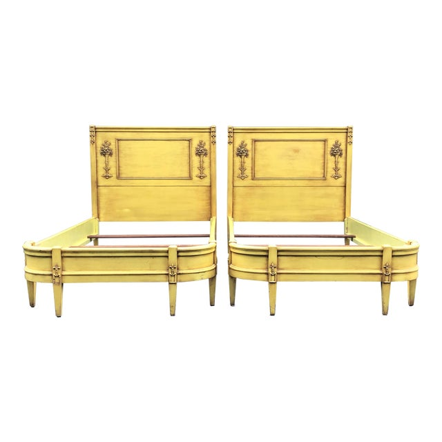 Louis XV-Style Twin Beds- a Pair For Sale