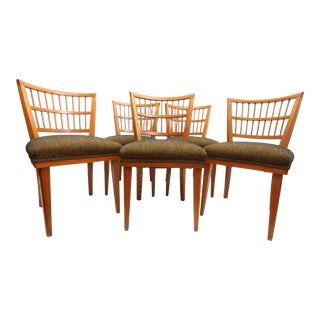 Mid Century Modern Dining Chairs- Set of 5 For Sale