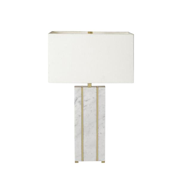 Rectangular Marble Table Lamp For Sale