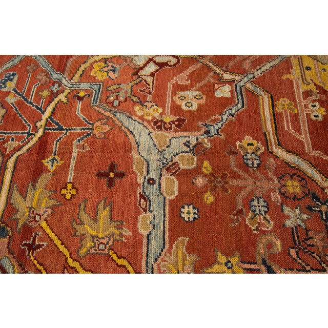 """Late 20th Century Vintage Persian Tribal Bakshaish Rug, 7'4"""" X 9'4"""" For Sale - Image 5 of 11"""