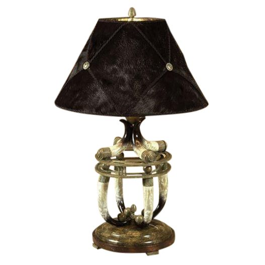 Maitland-Smith Faux Horn Table Lamp - Image 1 of 5