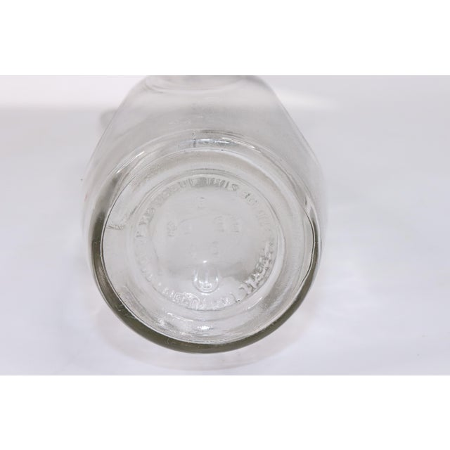 1970s Mid Century Modern Handled Dimpled Depressed Glass Decanter For Sale - Image 6 of 7