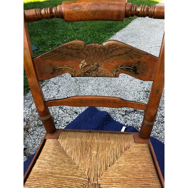Ethan Allen Vintage Mid-Century Ethan Allen L. Hitchcock Eagle Side Chair For Sale - Image 4 of 12