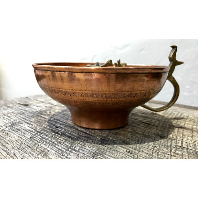 Turkish Hammam Copper Cup For Sale - Image 4 of 7