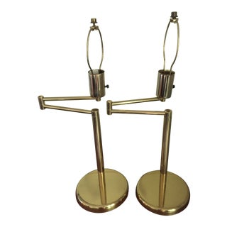 Kovacs Brass Table Lamps - a Pair